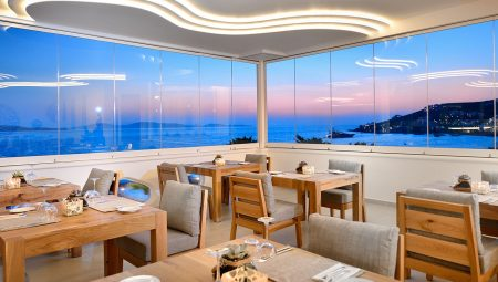 Anax Mykonos Resort Dining Sunset
