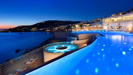 Anax Mykonos Resort Pool Night 4