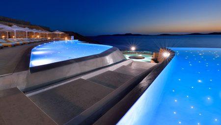 Anax Mykonos Resort Pool Night 3