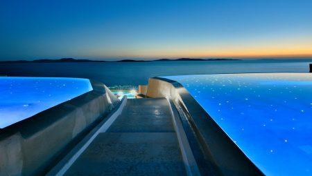 Anax Mykonos Resort Pool Night 2