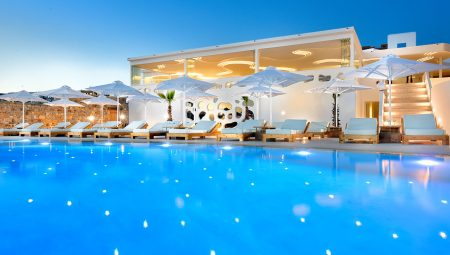 Anax Mykonos Resort Pool Night